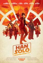 Plakat filmu Han Solo. Gwiezdne wojny - historie